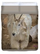 Molting Mountain Goat Duvet Cover