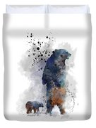 Mom And Baby Bear Duvet Cover