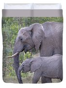 Mom And Baby Elephant Duvet Cover
