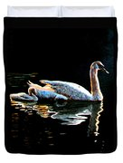 Mom And Baby Swan Duvet Cover