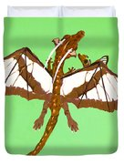 Mom And Child Dragons Duvet Cover