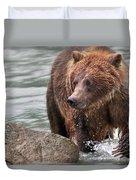 Mom Hunts Haines, Alaska Duvet Cover