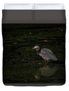 Moment Of The Heron Duvet Cover