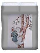 Momma And Baby Koala Duvet Cover