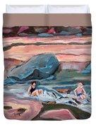 Momma At Slide Rock Park Arizona Duvet Cover