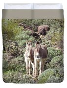 Mommy And Baby Burro Duvet Cover