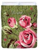 Mom's Day Elegance Vintage Rose Duvet Cover