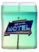 Mom's Motel Duvet Cover