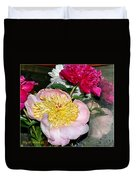 Mom's Peonies Duvet Cover