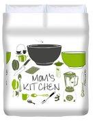 Moms Retro Kitchen Cookware Duvet Cover