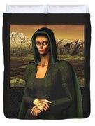 Mona Lisa Aien Duvet Cover