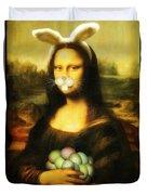 Mona Lisa Bunny Duvet Cover