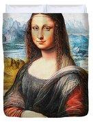 Mona Lisa Painting Duvet Cover