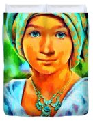 Mona Lisa Young - Da Duvet Cover