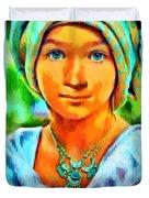 Mona Lisa Young - Pa Duvet Cover