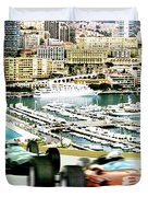 Monaco Grand Prix Racing Poster - Original Art Work Duvet Cover