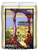 Monaco, Monte Carlo, View From Hotel Terrace Duvet Cover