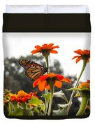 Monacrch Butterfly On A Flower Duvet Cover