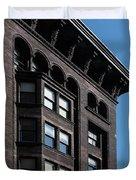 Monadnock Building Cornice Chicago B W Duvet Cover