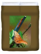 Monarch And Caterpillar Duvet Cover
