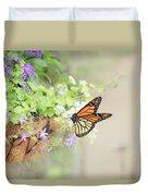 Monarch And Garden Basket Duvet Cover