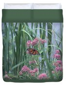 Monarch And Pink Duvet Cover