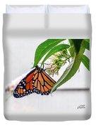 Monarch Butterfly In The Garden 3 Duvet Cover