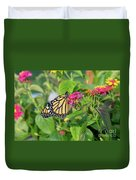 Monarch Butterfly On A Flower  Duvet Cover