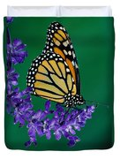 Monarch Butterfly On Flower Blossom Duvet Cover