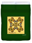 Monarch Butterfly Pin Wheel Duvet Cover