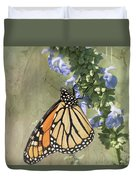 Monarch Butterfly Textured Background Duvet Cover