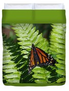 Monarch On A Fern Duvet Cover