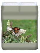Monarch On A Butterfly Bush Duvet Cover