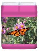 Monarch On Blanket Flower Duvet Cover