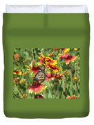 Monarch On Blanketflower Duvet Cover