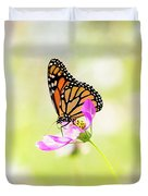 Monarch On Cosmos Duvet Cover
