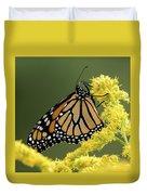 Monarch On Goldenrod Duvet Cover