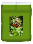 Monarch On Milk Weed Duvet Cover