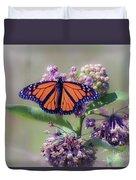 Monarch On The Milkweed Duvet Cover