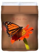 Monarch On Tithonia Mother's Day Gifts Duvet Cover