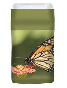 Monarch On Zinnia 4-2015 Duvet Cover