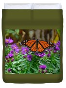 Monarch Spreading Its Wings Duvet Cover