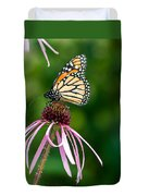 Monarched Coneflower Duvet Cover
