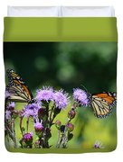Monarchs And Blazing Star Duvet Cover