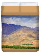Monastery In The Mountains Duvet Cover