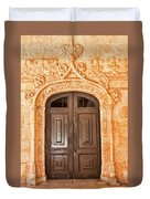 Monastery Of Jeronimos Door Duvet Cover