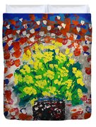 Monday Flowers Duvet Cover