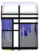 Mondrian In N Y Duvet Cover