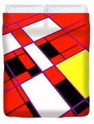 Mondrian Lays A Carpet Duvet Cover