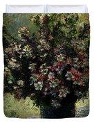 Monet Claude Vase Of Flowers Duvet Cover